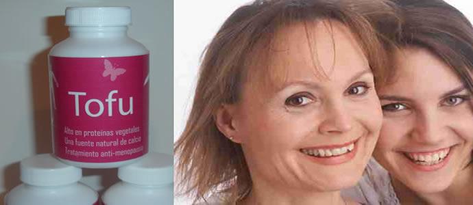 Tofu en cápsulas para la menopausia
